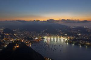 Wide Angle View of Rio De Janeiro at Sunset with Guanabara Bay by Alex Saberi