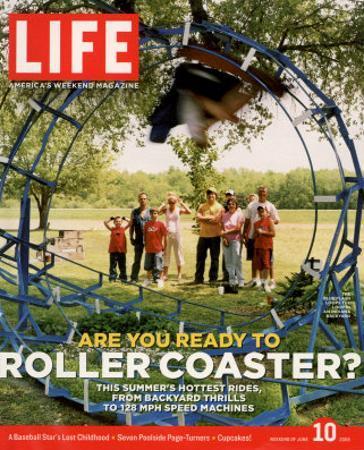 Blue Flash, Homemade Roller Coaster Built by John Ivers in Backyard, Bruceville, IN, June 10, 2005