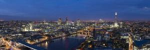 A night-time panoramic view of London and River Thames from top of Southbank Tower, London, England by Alex Treadway