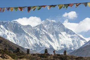 A Trekker on their Way to Everest Base Camp by Alex Treadway