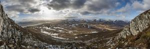 A View across the Cairngorms in Scotland from the Top of Creag Dubh Near Newtonmore by Alex Treadway