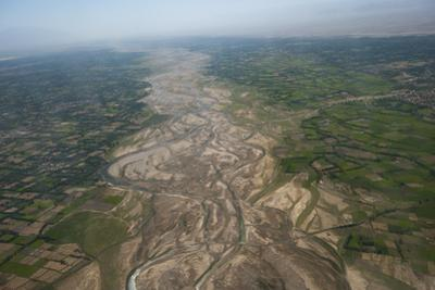 Afghanistan landscape from the Herat-Kabul flight, Afghanistan, Asia by Alex Treadway