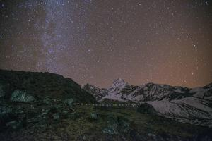Ama Dablam Base Camp at night, Khumbu Region, Nepal, Himalayas, Asia by Alex Treadway