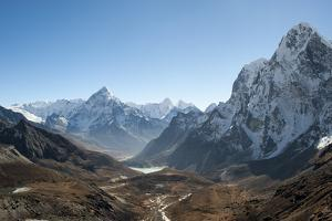 Ama Dablam Seen from the Cho La Pass in the Khumbu Region, Himalayas, Nepal, Asia by Alex Treadway