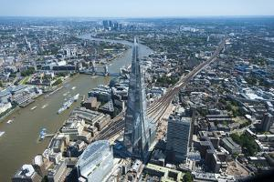 An Aerial View of the Shard, Standing at 309.6 Metres High, the Tallest Buliding in Europe by Alex Treadway