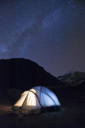Camping at Jangothang along the Laya-Gasa trek in Bhutan, Asia by Alex Treadway