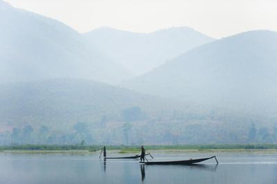 Fishermen on Inle Lake, Myanmar (Burma), Asia by Alex Treadway