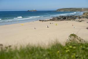 From the Cliffs at Gwithian Looking Towards Godrevy Lighthouse by Alex Treadway