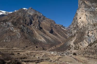 Goyul village between Lingzhi and Chebisa along the Laya-Gasa trekking route, Thimpu District, Bhut by Alex Treadway