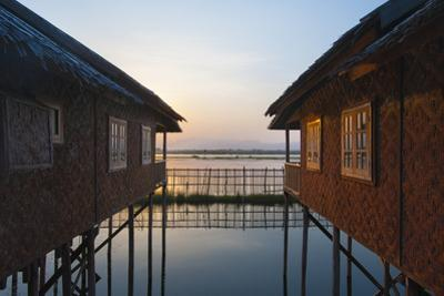 Houses and entire villages built on stilts on Inle Lake, Myanmar (Burma), Asia by Alex Treadway