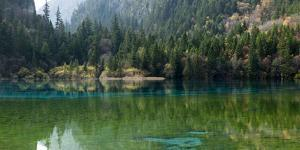 Jiuzhaigou on the Edge of the Tibetan Plateau, known for its Waterfalls and Colourful Lakes by Alex Treadway