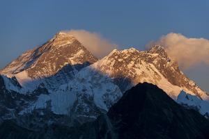 Mount Everest, Nuptse and Lhotse, seen here from Gokyo Ri, Khumbu Region, Nepal, Himalayas, Asia by Alex Treadway