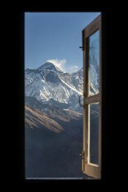 Mount Everest Seen Here from Yeti Mountain Home at Kongde by Alex Treadway
