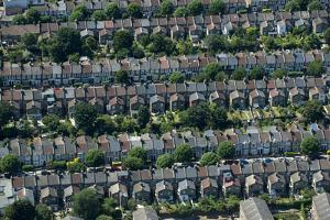 Rows of Victorian Terraced Houses in London, England, United Kingdom, Europe by Alex Treadway