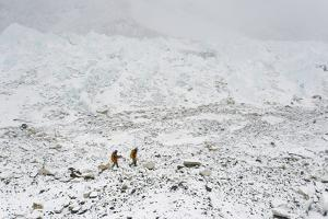 Sherpas Return to Base Camp from Mount Everest in Nepal by Alex Treadway