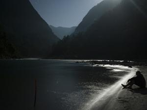 Sitting Beside the Karnali River on a Moonlit Night by Alex Treadway