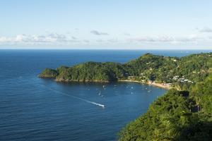The beach at Castara Bay in Tobago, Trinidad and Tobago, West Indies, Caribbean, Central America by Alex Treadway