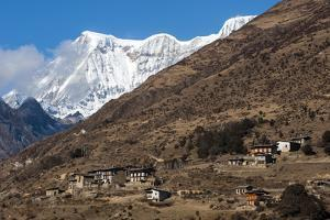 The Beautiful Village of Laya in the Himalayas, Bhutan, Asia by Alex Treadway