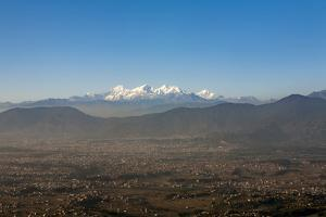 The Entire Kathmandu Valley and City with a Backdrop of the Himalayas, Nepal, Asia by Alex Treadway