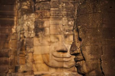 The faces on the Bayon temple at Angkor, UNESCO World Heritage Site, Siem Reap, Cambodia, Indochina by Alex Treadway