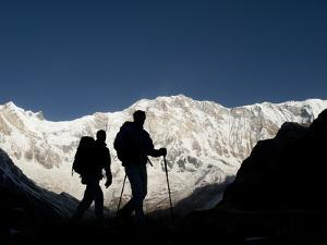Trekkers on their Way Down from Annapurna Base Camp by Alex Treadway