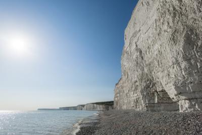 White Chalk Cliffs Near Beachy Head on the South Coast of Britain by Alex Treadway