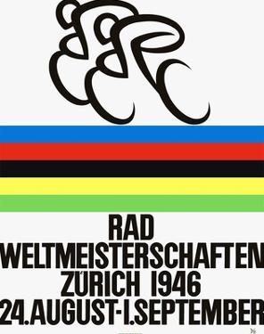 Rad Weltmeisterschaften. Bicycle Race, 1946, Zurich by Alex W. Diggelmann