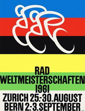 Rad Weltmeisterschaften. Bicycle Race, 1961, Zurich, Bern by Alex W. Diggelmann
