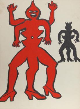 Derrier le Miroir (Two Acrobats) by Alexander Calder