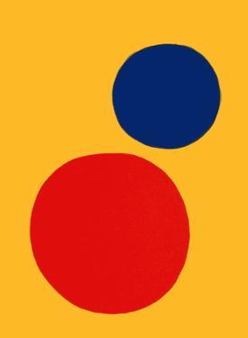 Derrier le Mirroir, no. 201: Champ jaune II by Alexander Calder