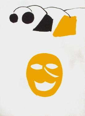 Derrier le Mirroir, no. 221: Masque Jaune by Alexander Calder
