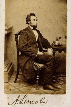 A Signed Carte-De-Visite Photograph of Abraham Lincoln, 1861 by Alexander Gardner