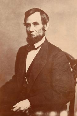 Abraham Lincoln, 1861 by Alexander Gardner