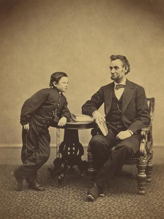 Abraham Lincoln and his son Thomas , 1865