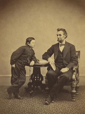 Abraham Lincoln and his son Thomas , 1865 by Alexander Gardner