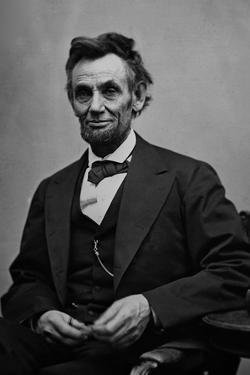 Abraham Lincoln Seated by Alexander Gardner by Alexander Gardner