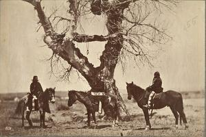 Burial, Dakota, 1868 by Alexander Gardner