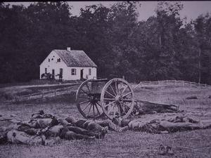 Dead Confederate Gun Crew after Battle of Antietam, 1862 by Alexander Gardner