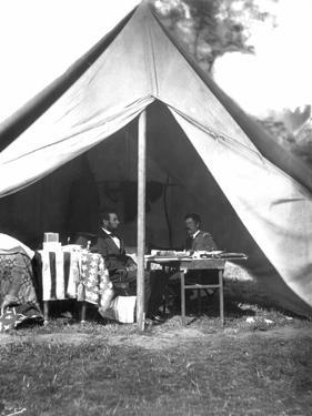 Lincoln & Mcclellan by Alexander Gardner