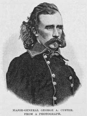 Major General George Armstrong Custer, Engraved from a Photograph, Illustration from 'Battles and… by Alexander Gardner