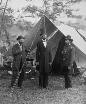President Lincoln on the Battlefield of Antietam, Maryland, October 2, 1862 by Alexander Gardner