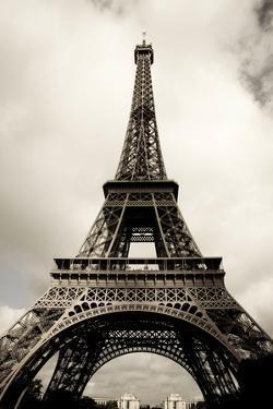 Amazing Eiffel Tower in Paris, France on Cloudy Day, Edited, Toned, Paris 2007 by Alexander Hafemann