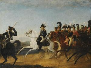 Alexander I of Russia Accompanied by His Staff