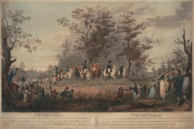 Prince Regent, William III of Prussia, Alexander I, General Blücher and Hetman Platov Review Troops