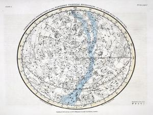 The Northern Hemisphere, from 'A Celestial Atlas' 1822 by Alexander Jamieson