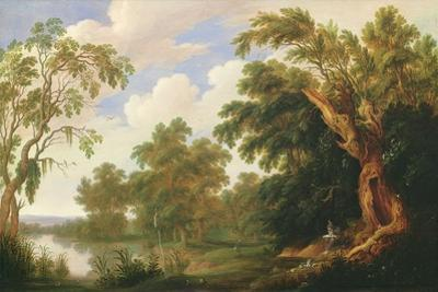 St. Paul Visiting St. Anthony in a Wooded Landscape, 17th Century