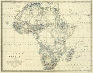 Africa, c.1861 by Alexander Keith Johnston