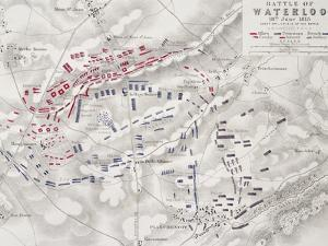 Battle of Waterloo, 18th June 1815, Sheet 2nd, Crisis of the Battle by Alexander Keith Johnston