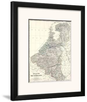 Belgium, Netherlands, c.1861 by Alexander Keith Johnston