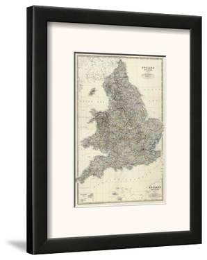 Composite: England, Wales, c.1861 by Alexander Keith Johnston